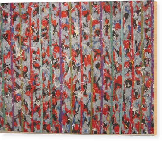 Striped Wood Print by Biagio Civale