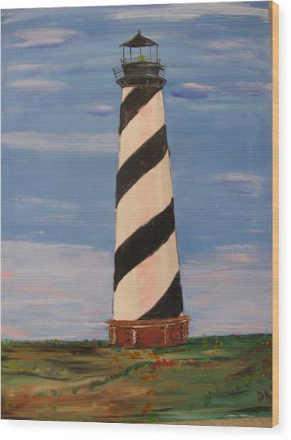 Striped Sentinal Wood Print by Dennis Poyant