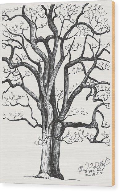 Stripped Bare Wood Print