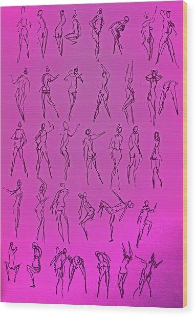 Stripper Gestures Wood Print