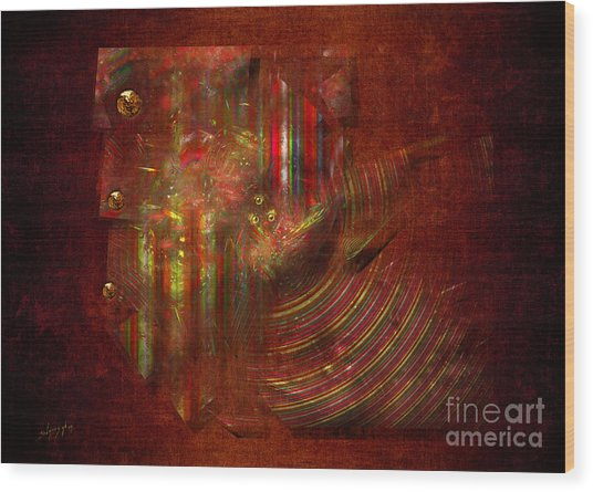 Strips Wood Print