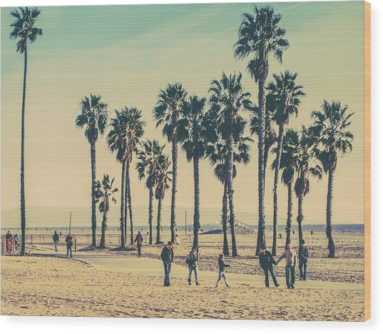 Stroll Down Venice Beach Wood Print