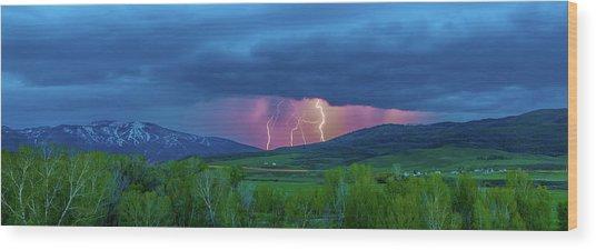 Storm Peak  Wood Print
