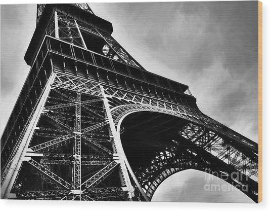 Strong As Steel In Paris Wood Print by Mel Steinhauer