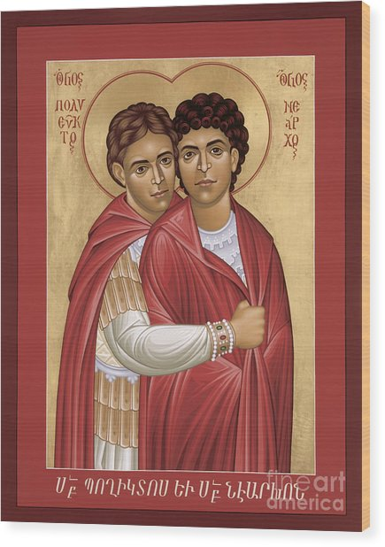 Sts. Polyeuct And Nearchus - Rlpan Wood Print