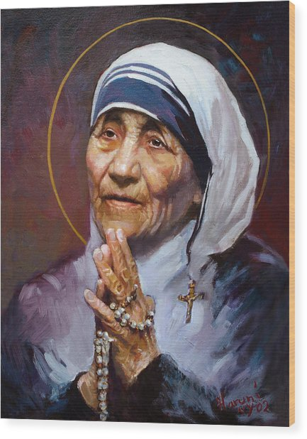 St.teresa Of Calcutta Wood Print