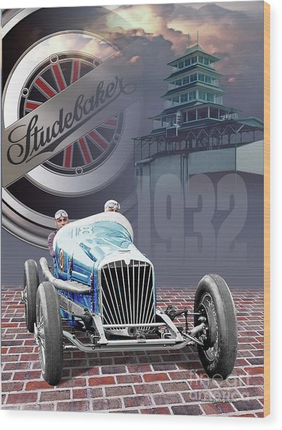 Studebaker Indy Wood Print