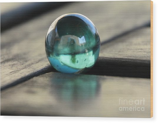 Studies In Glass ...marble Wood Print