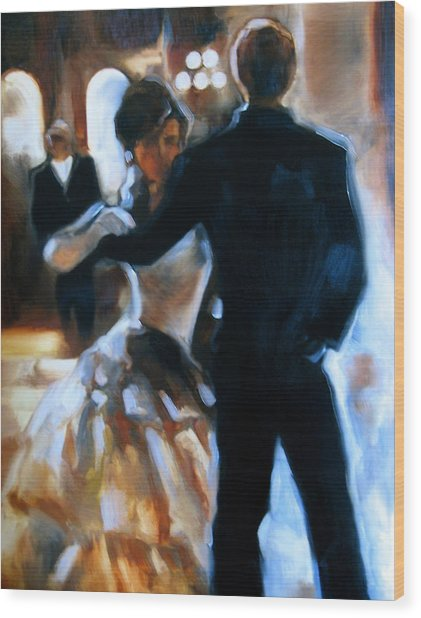 Study For Last Dance Wood Print by Stuart Gilbert