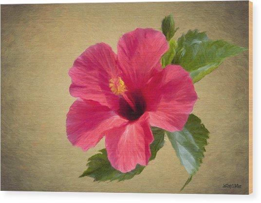 Study In Scarlet Wood Print
