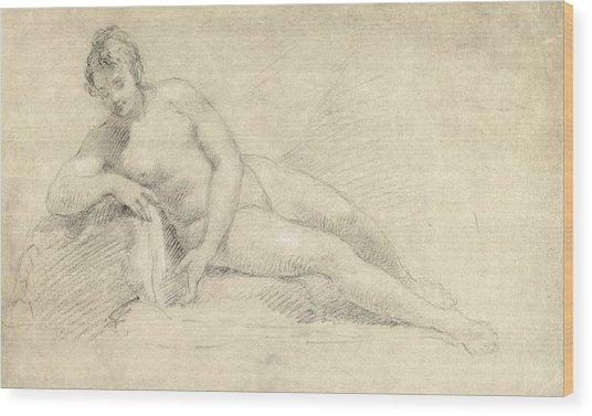 Study Of A Female Nude  Wood Print