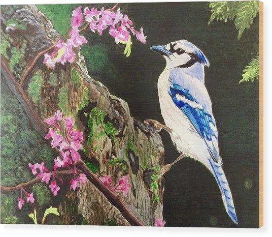 Stump Sitter Wood Print
