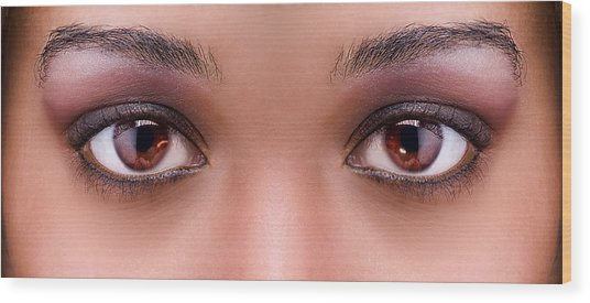 Stunning Eyes Wood Print