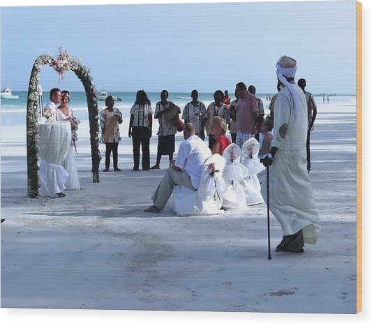 Stunning Kenya Beach Wedding Wood Print