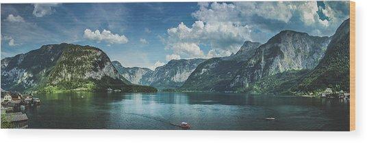 Stunning Lake Hallstatt Panorama Wood Print
