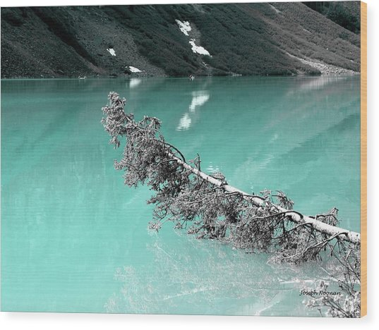 Stunning Turquoise Glacial Lake Wood Print