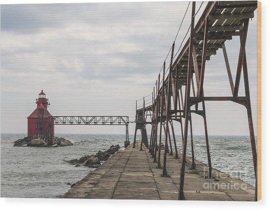 Sturgeon Bay Ship Canal North Pierhead Lighthouse 1 Wood Print