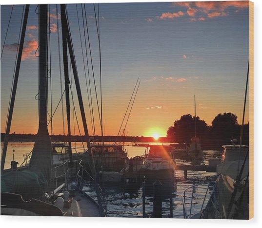 Sturgeon Bay Sunset Wood Print