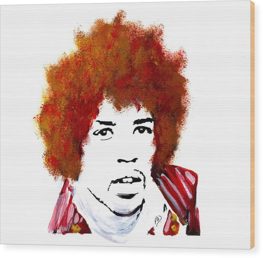 Stylized Hendrix Wood Print