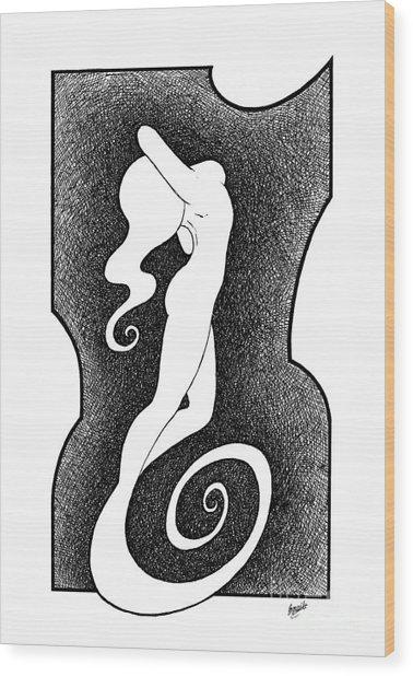 Stylized Woman Wood Print by Enaile D Siffert