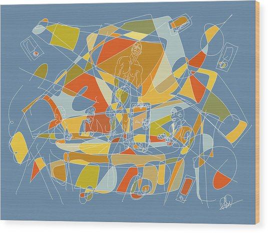 Subjection Of Privacy Wood Print by Hal Nymen