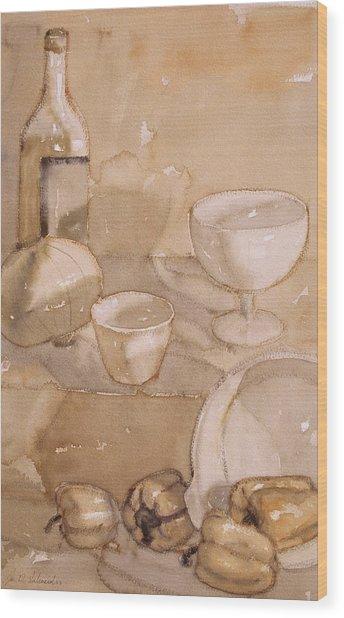 Subtle Still Life Wood Print