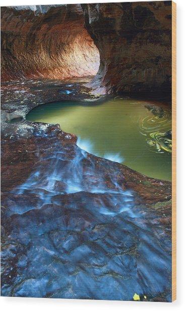 Subway In Zion National Park Utah Wood Print