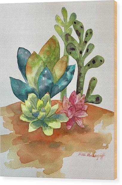 Succulents Wood Print