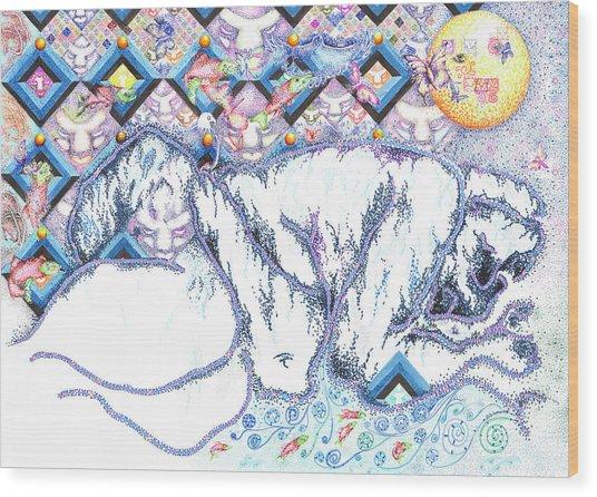 Suenos De Invierno Winter Dreams Wood Print