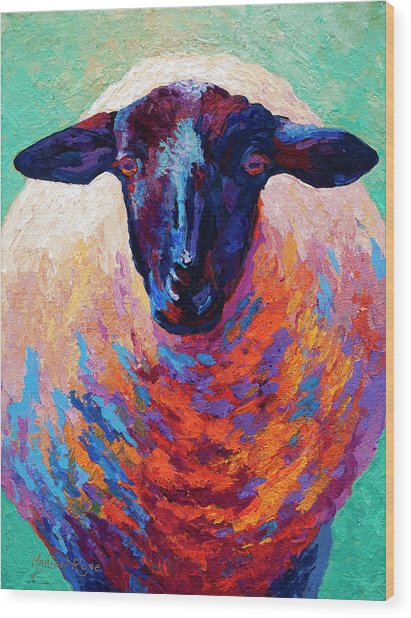 Suffolk Ewe Wood Print