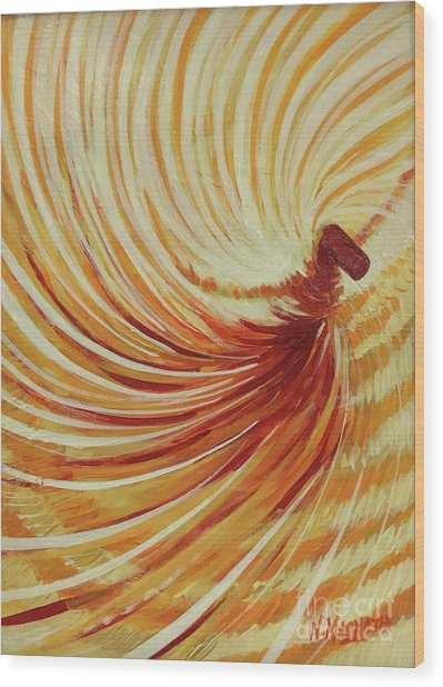 Wood Print featuring the painting Sufi-2 by Nizar MacNojia