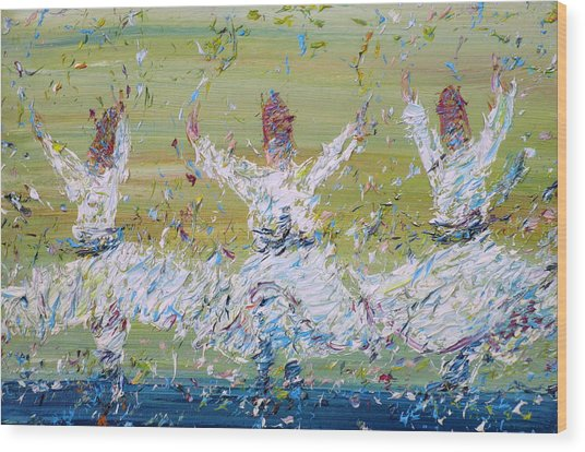 Sufi Whirling Wood Print