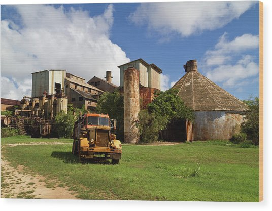Sugar Mill And Truck Wood Print