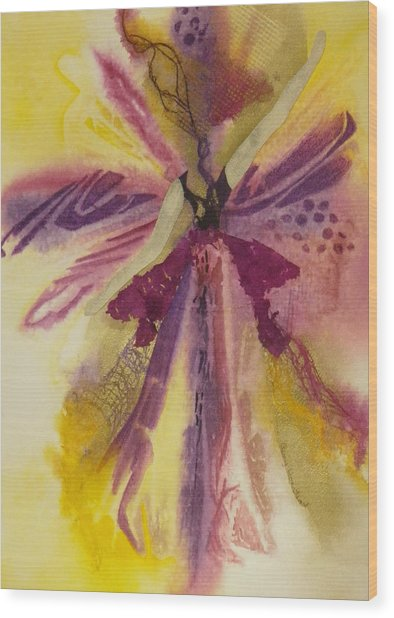 Sugar Plum Fairy Wood Print