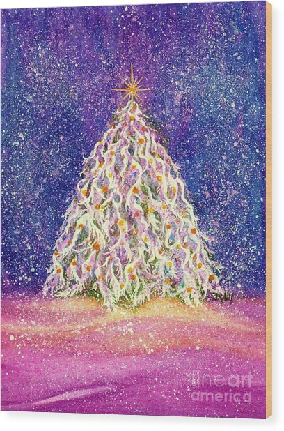 Sugar Plum Forest  - Christmas Tree Wood Print