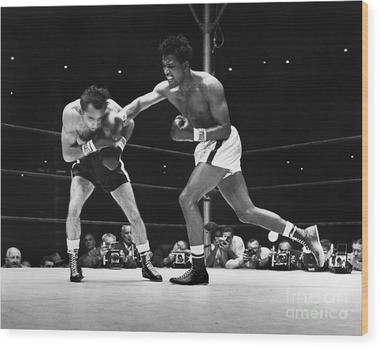 Sugar Ray Robinson Wood Print