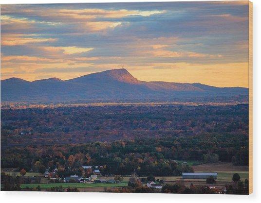 Sugarloaf View, South Deerfield, Ma Wood Print