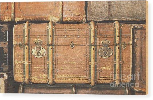 Suitcases  Wood Print