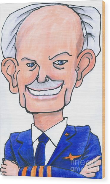 Sully Sullenberger Caricature Wood Print by Stan Levine