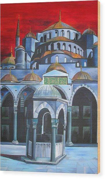 Sultan Ahmed Mosque Istanbul Wood Print