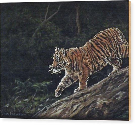 Sumatran Cub Wood Print