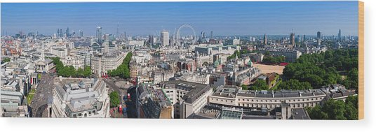 Sumer Panorama Of London Wood Print