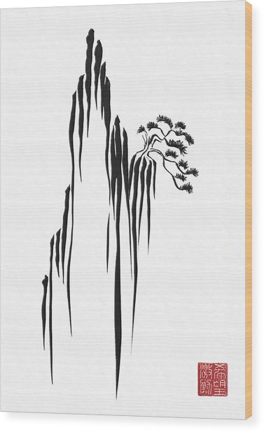 Sumi-e - Bonsai - One Wood Print