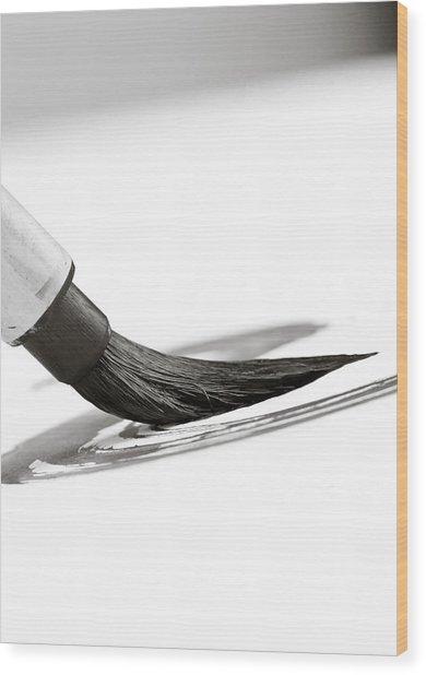 Sumi-e Brush Wood Print by Edward Myers