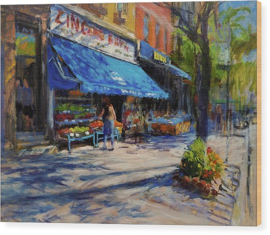 Summer Afternoon, Columbus Avenue Wood Print