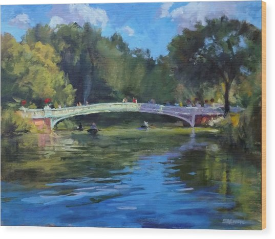 Summer Afternoon On The Lake, Central Park Wood Print