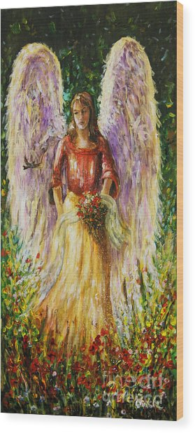 Summer Angel Wood Print