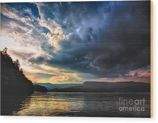 Summer At Lake James Wood Print