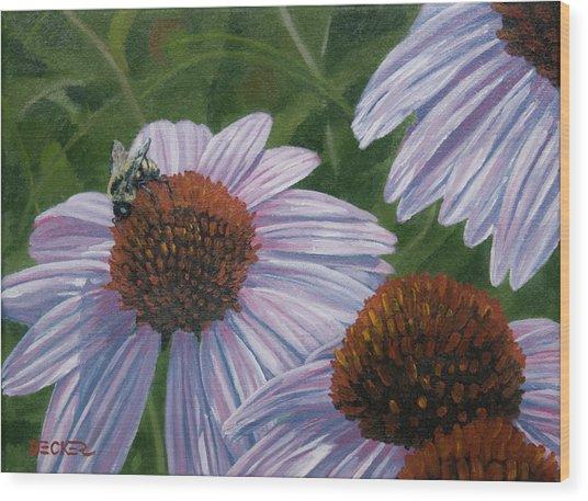 Summer Bees I Wood Print