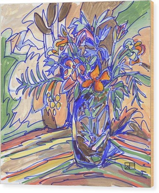 Summer Bouquet Wood Print by Helen Pisarek